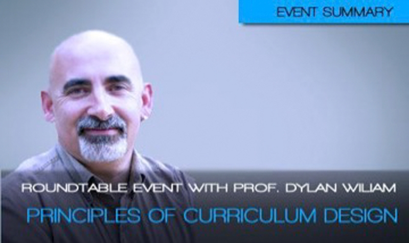 Round-table talk with Professor Dylan Wiliam